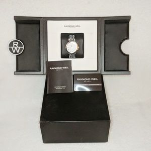 Raymond Weil Geneve Stainless Steel Crystal Watch
